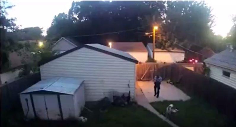 police officer shoots dog